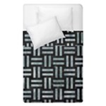 WOVEN1 BLACK MARBLE & ICE CRYSTALS (R) Duvet Cover Double Side (Single Size)