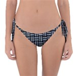 WOVEN1 BLACK MARBLE & ICE CRYSTALS (R) Reversible Bikini Bottom