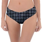 WOVEN1 BLACK MARBLE & ICE CRYSTALS (R) Reversible Classic Bikini Bottoms
