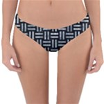 WOVEN1 BLACK MARBLE & ICE CRYSTALS (R) Reversible Hipster Bikini Bottoms