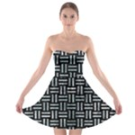 WOVEN1 BLACK MARBLE & ICE CRYSTALS (R) Strapless Bra Top Dress