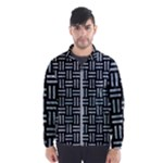 WOVEN1 BLACK MARBLE & ICE CRYSTALS (R) Wind Breaker (Men)