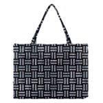 WOVEN1 BLACK MARBLE & ICE CRYSTALS (R) Medium Tote Bag