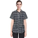 WOVEN1 BLACK MARBLE & ICE CRYSTALS (R) Women s Short Sleeve Shirt