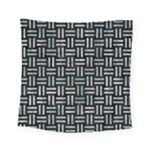 WOVEN1 BLACK MARBLE & ICE CRYSTALS (R) Square Tapestry (Small)