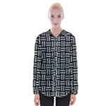 WOVEN1 BLACK MARBLE & ICE CRYSTALS (R) Womens Long Sleeve Shirt