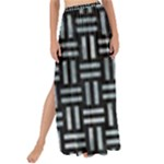 WOVEN1 BLACK MARBLE & ICE CRYSTALS (R) Maxi Chiffon Tie-Up Sarong