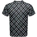 WOVEN2 BLACK MARBLE & ICE CRYSTALS (R) Men s Cotton Tee