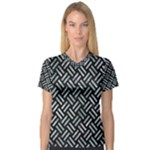 WOVEN2 BLACK MARBLE & ICE CRYSTALS (R) V-Neck Sport Mesh Tee
