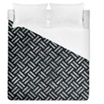 WOVEN2 BLACK MARBLE & ICE CRYSTALS (R) Duvet Cover (Queen Size)