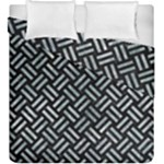 WOVEN2 BLACK MARBLE & ICE CRYSTALS (R) Duvet Cover Double Side (King Size)
