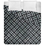 WOVEN2 BLACK MARBLE & ICE CRYSTALS (R) Duvet Cover Double Side (California King Size)