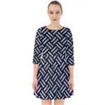 WOVEN2 BLACK MARBLE & ICE CRYSTALS (R) Smock Dress