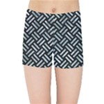WOVEN2 BLACK MARBLE & ICE CRYSTALS (R) Kids Sports Shorts