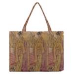 Japanese Geisha with Cat illustration Zipper Medium Tote Bag
