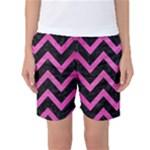 CHEVRON9 BLACK MARBLE & PINK BRUSHED METAL (R) Women s Basketball Shorts