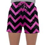 CHEVRON9 BLACK MARBLE & PINK BRUSHED METAL (R) Sleepwear Shorts