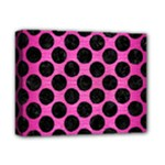 CIRCLES2 BLACK MARBLE & PINK BRUSHED METAL Deluxe Canvas 14  x 11