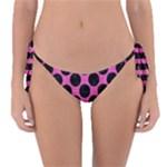 CIRCLES2 BLACK MARBLE & PINK BRUSHED METAL Reversible Bikini Bottom