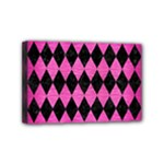 DIAMOND1 BLACK MARBLE & PINK BRUSHED METAL Mini Canvas 6  x 4