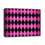 DIAMOND1 BLACK MARBLE & PINK BRUSHED METAL Deluxe Canvas 16  x 12