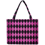 DIAMOND1 BLACK MARBLE & PINK BRUSHED METAL Mini Tote Bag