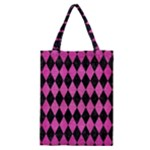 DIAMOND1 BLACK MARBLE & PINK BRUSHED METAL Classic Tote Bag