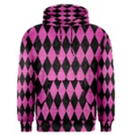 DIAMOND1 BLACK MARBLE & PINK BRUSHED METAL Men s Pullover Hoodie
