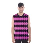 DIAMOND1 BLACK MARBLE & PINK BRUSHED METAL Men s Basketball Tank Top