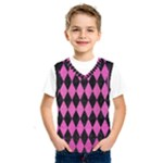 DIAMOND1 BLACK MARBLE & PINK BRUSHED METAL Kids  SportsWear