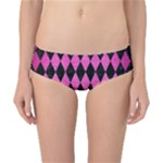 DIAMOND1 BLACK MARBLE & PINK BRUSHED METAL Classic Bikini Bottoms
