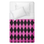 DIAMOND1 BLACK MARBLE & PINK BRUSHED METAL Duvet Cover (Single Size)