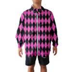 DIAMOND1 BLACK MARBLE & PINK BRUSHED METAL Wind Breaker (Kids)