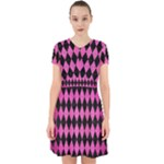 DIAMOND1 BLACK MARBLE & PINK BRUSHED METAL Adorable in Chiffon Dress