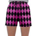 DIAMOND1 BLACK MARBLE & PINK BRUSHED METAL Sleepwear Shorts