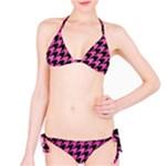 HOUNDSTOOTH1 BLACK MARBLE & PINK BRUSHED METAL Bikini Set