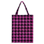HOUNDSTOOTH1 BLACK MARBLE & PINK BRUSHED METAL Classic Tote Bag