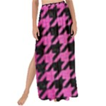 HOUNDSTOOTH1 BLACK MARBLE & PINK BRUSHED METAL Maxi Chiffon Tie-Up Sarong