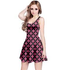 Circles3 Black Marble & Pink Denim Reversible Sleeveless Dress by trendistuff