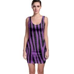 Skin4 Black Marble & Purple Denim (r) Bodycon Dress by trendistuff