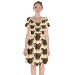 Butterfly Butterflies Insects Short Sleeve Bardot Dress by Celenk