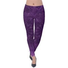 Background Purple Mandala Lilac Velvet Leggings