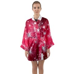 Christmas Star Advent Background Long Sleeve Kimono Robe