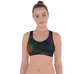 Galaxy Space Universe Astronautics Cross String Back Sports Bra by Celenk