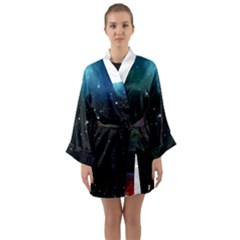 Galaxy Space Universe Astronautics Long Sleeve Kimono Robe by Celenk