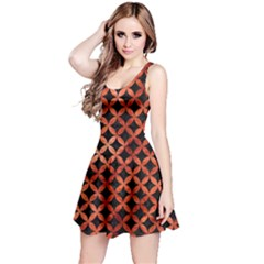 Circles3 Black Marble & Copper Paint (r) Reversible Sleeveless Dress by trendistuff