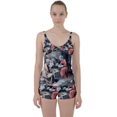 The Birth Of Christ Tie Front Two Piece Tankini by Valentinaart