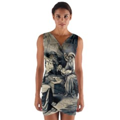 The Birth Of Christ Wrap Front Bodycon Dress by Valentinaart