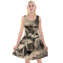 The Birth Of Christ Reversible Velvet Sleeveless Dress by Valentinaart