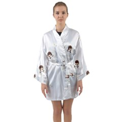 Christmas Angels  Long Sleeve Kimono Robe